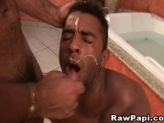 Handsome bear gets his ass fingered and amazingly drilled