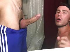 Sucking dick in the bathroom 2