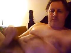 Gorgeous daddy stroking