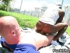 White man gets dick sucked by black homo thug