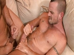 Sexy Unshaved Top fucks hard - a hot couple II