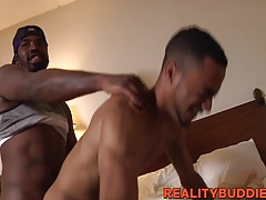 Stunning Tommy Tampa enjoying Philly Macs thick black cock