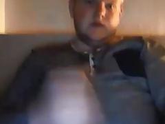 Sexy blond cub edging