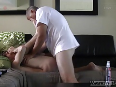 Escort Gets Plowed BAREBACK in the Living Room