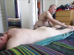 Rim Job And Cock Suck For A Bi-Curious Dad.