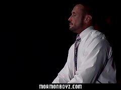 MormonBoyz - Shy Ginger Boy Gets Punished by Two Older Men