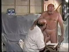 Two mature old men