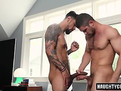 Latin gays flip flop and cumshot