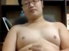 cute asian chubby guy wanking