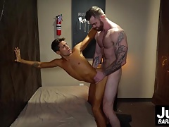 Muscle hunk Scott Ambrose shows handsome Titus how to fuck