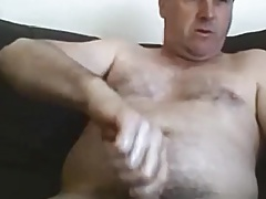 Another aussie daddy enjoying his cock
