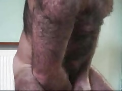 Hairy man with nice cock cumming