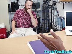 Doggystyled straight guy rides black cock
