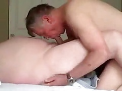 Hot daddy sucking a other men cock