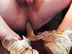 Cumming on keds sneakers