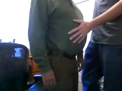 grandpa suck on webcam
