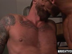 Big dick gay dildo with cumshot