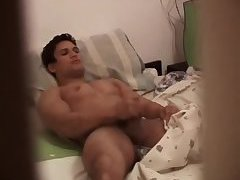 Gay cock jerked on hidden cam