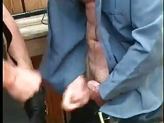 Hot Cops Enjoys Sucking Outdoor