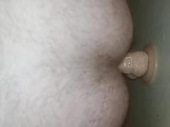 Huge dildo in gay ass