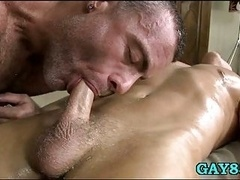 Butt service from gay masseur