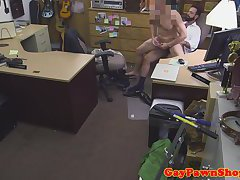 Straight pawnshop amateur fucking for money