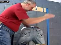 Fat coach punished and humiliation a boy