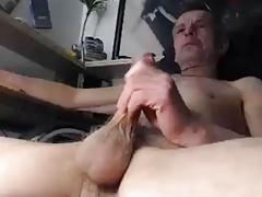 old man Jerking his dick