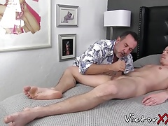 Wild and horny bears take turn sucking each others dicks