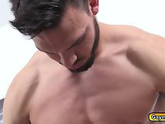 Landon gets anal fuck by his straight roommate