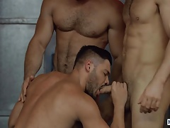 Dato Foland,Diego Reyes and Nicolas Brooks enjoy threesome