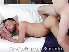 GayCastings - Newcomer Carson Cruise gets tight ass fucked