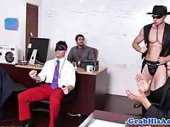Stud boss cocksucking on his knees POV