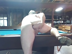 JoeyD Trying 2 Shove Pool Ball in wet anal hole