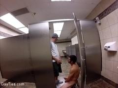 Public Restroom Sex Show-ADX