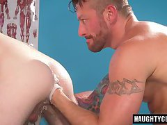 Tattoo boy fetish with cumshot