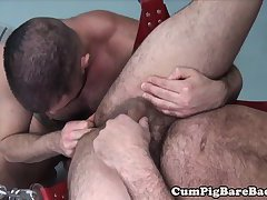 Ripped bear barebacking tight ass before cum