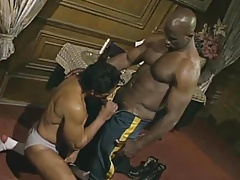 Big Black Man Fucks Black Waiter
