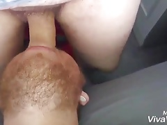 Sucker cums while he sucking a cock deepthroat