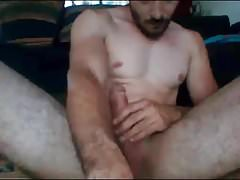 Hot Mexican Str8 Guy cums on cam #85