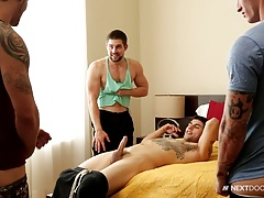 NextDoorStudios Football Jocks 4Way Hotness!