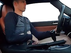 Stroking & Licking in the car