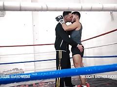 Huge cock Boxing Coach breeds Xavier HD