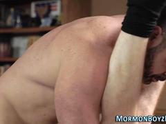 Cock riding mormon spunks