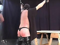 Guy In Thongs Gets Spanked