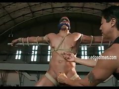 Black man is gagged and tied up