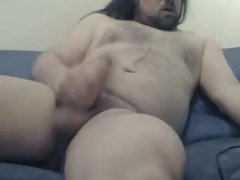 long haired bear with nice ass and dick