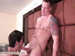 Travis Turner and Joey Milano hardcore