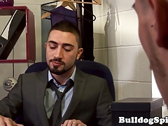 British office bloke cums while assfucked