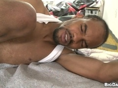 Black queer gives a blowjob and enjoys it deep doggy style
